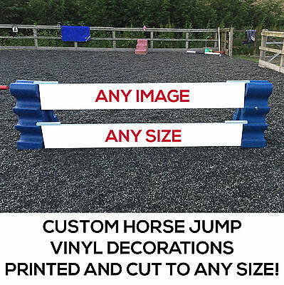 Personalized Horse Show Jumps & Fillers -  Vinyl Decals - Decorate your Jumps!