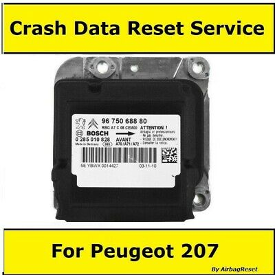 Peugeot 207 Airbag Module Crash Data Reset Service By Post For All 207 ecu's