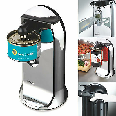 Kenwood 3 in 1 Automatic Can Bottle Opener Knife Sharpener Electric 40W Chrome
