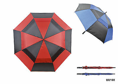 Drizzles Wind Resistant Double Canopy Auto Open Vented Golf Umbrella Men Women
