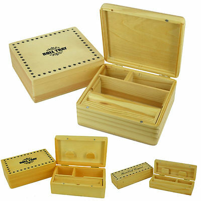 Wooden Rolling Box Roll Stash Snuff Smoking Tobacco Cigarette Box Grassleaf