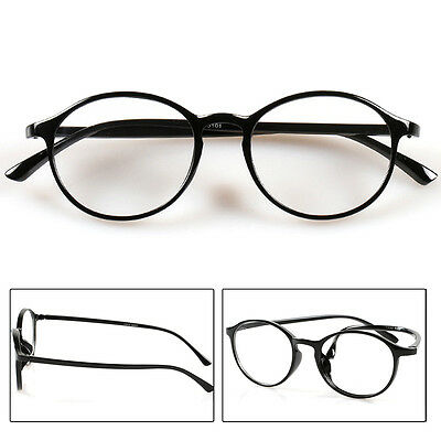 Reading Chic Glasses Retro Durable Round Framed Spectacles 1.0 to 4.0 Eyeglasses