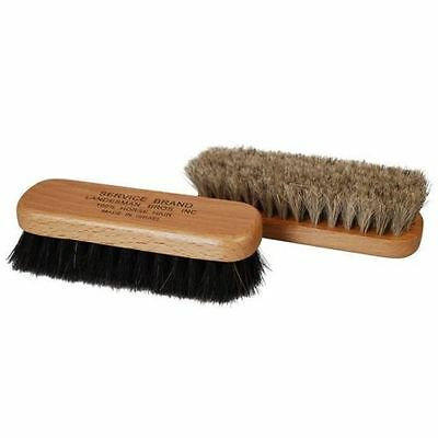Professional Quality MINI Shoe Shine Buffing Brush 100% Horse Hair Wood Handle