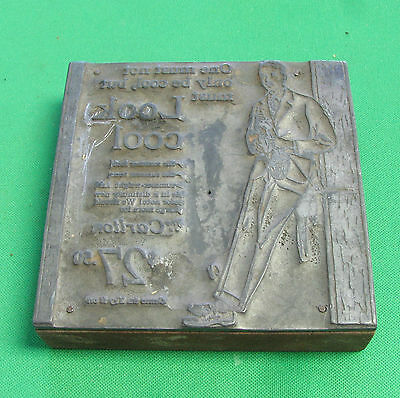 VINTAGE PRINTING PLATE BLOCK Canada  Pub of clothing The Carlton