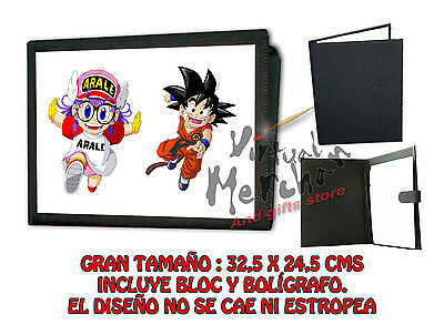 CARPETA ARALE Y GOKU DRAGON BALL LONETA NEGRA FOLDER bloc es