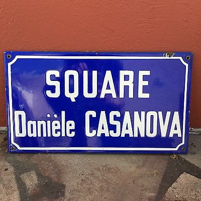 Old French Street Enameled Sign Plaque - vintage casanova 2