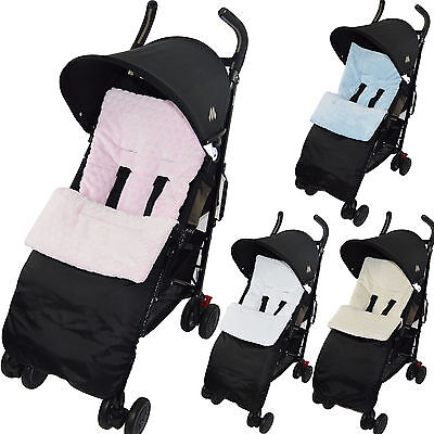 Marshmallow Super Soft Footmuff Compatible withBugaboo Cosy Toes Buggy Pushchair