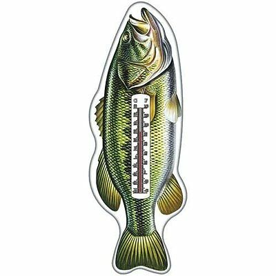 Rivers Edge Products Tin Thermometer Bass-Open Box See Condition Description