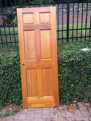 Solid Wood Interior Doors 6 Panel Raised Excellent cond. 80x36""