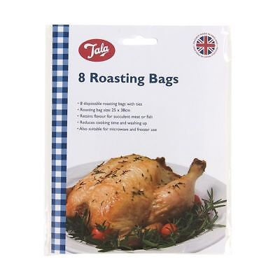8 Tala Large Oven Roasting Roast Chicken Meat Fish Veg Roasting Cooking Bags