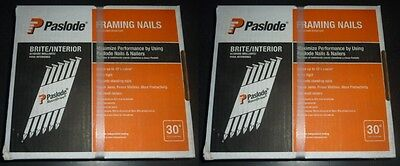 """2 CASES Paslode 3-1/4"""" x .131 30 Degree Framing Roundrive 5000 nails 3 1/4 3"""""""