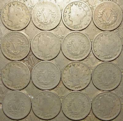 *HHC* Liberty V Nickel, mix of dates, Full Dates, Price per coin