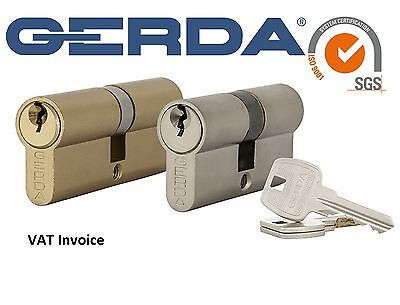 Gerda High Quality Euro Profile Cylinder PVC Wood Door Lock Barrel 3 Keys WKE1
