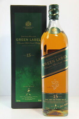 Johnnie Walker 15 Year Old Green Label 1ltr Pure Malt Scotch Whisky