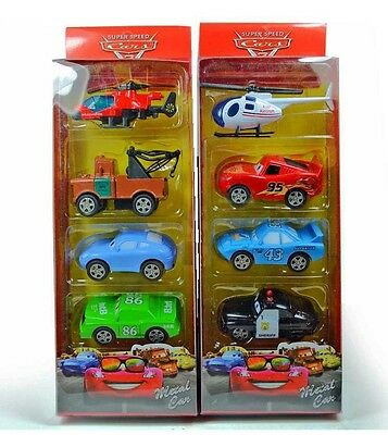 8Pcs Disney Pixar Cars Lightning Mcqueen Kids Child Figurines Diecast Model Toy