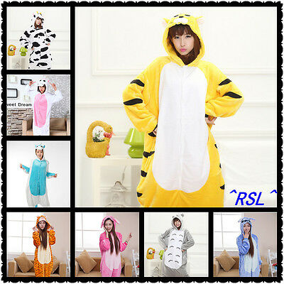 Unisex Adult Onesie Kigurumi Pajamas Cosplay Costume Animal sleepwear Dress S-XL