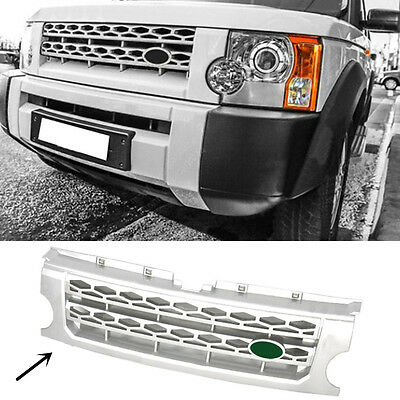 For Land Rover Discovery LR3 2005-2009 Silver Front grille replace trim