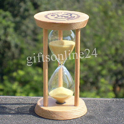 Small Wood Sand Clock Hourglass Timer 3 Min for Tea/Cafe Decor Xmas Child Toy