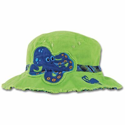 NEW Stephen Joseph Octopus Bucket Hat Toddler Boy Kids Sun Shade Cotton