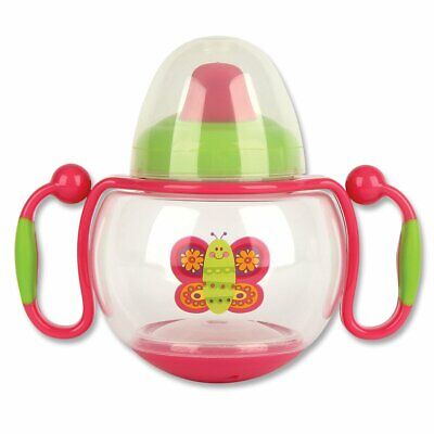 New Stephen Joseph Butterfly Sippy Cup Baby Feeding Drink Toddler Girl