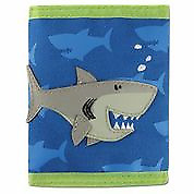 NEW Stephen Joseph Childrens Shark Wallet Boy Kids Coin Money Purse