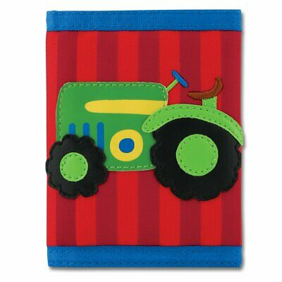 NEW Stephen Joseph Childrens Farm Boy Tractor Wallet Kids Coin Money Purse