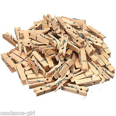New 50 Pcs Wood Clothespins Wooden Laundry Clothes Pins Large Spring Size 35MM