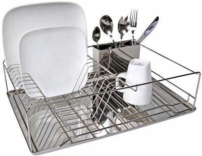Benzer - Family Stainless Steel Dishrack with Cutlery Drainer and Tray