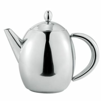 Benzer - Hotello Polished Steel Tea Pot 1Ltr 6 Cup