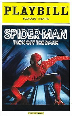 OPENING NIGHT SPIDERMAN TURN OFF THE DARK PLAYBILL  Spider-man Reeve Carney