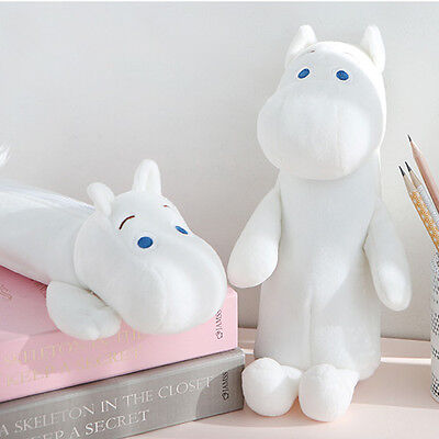 Cute Moomin Soft Plush type Pencil Case Pen Bag Mumin Troll Stationery Organizer