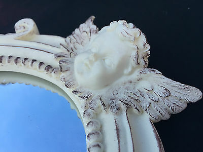 "ANGEL MIRROR READY TO HANG - ""NEW""  28cm x 20cm - Ornate Angel Mirror"