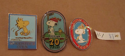Snoopy Hockey Pins - Woodstock Golf Pin Lot H-1