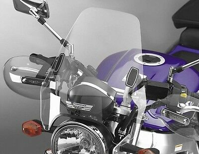 National Cycle Deflector Screen DX For 1 in.Handlebars(Clear) - Various Motorcyc