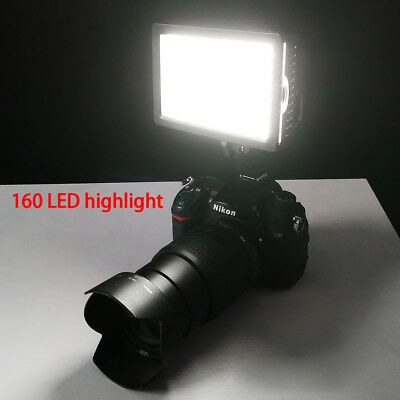 160LED Studio Video Light For Canon Nikon Camera DV Camcorder Photo LED Lighting