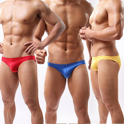 Men's Swimwear Bikini Beach Briefs Trunks Swimming Shorts Bulge Pouch Underwear
