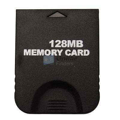 New 128MB Memory Card for Nintendo Wii GameCube GC Console 128 MB Black UK