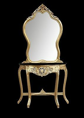 Mirror & Console Modern Dressing Table Hall Table Gold Wall Mirror Shabby Chic