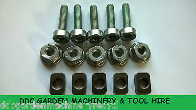 stihl  hedge cutter replacement bar sliders,nuts & screw bolts 5 pack
