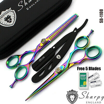 Professional Barber Hairdressing Scissors Hair Cutting Thinning Shear Set 6''