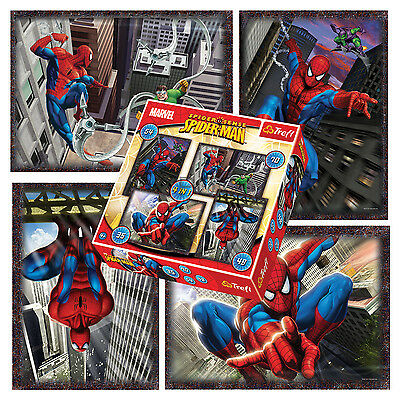 Trefl 4 In 1 35 + 48 + 54 + 70 Piece Boys Kids Climbing Spiderman Jigsaw Puzzle