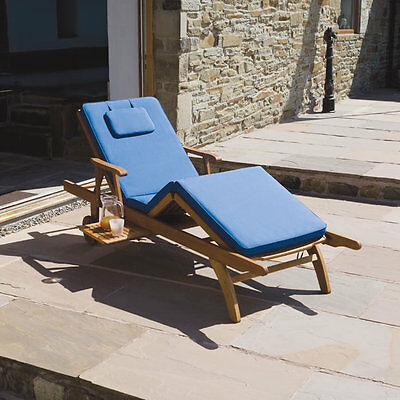 Luxury Cushion for Amalfi fully adjustable Sun Lounger Chair in  Blue