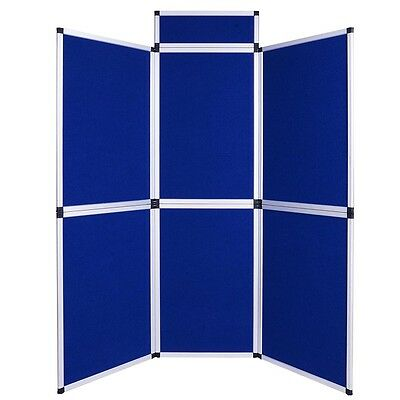6 Set Panel Portable Exhibition Folding Display Board Stand Trade Show Aluminum