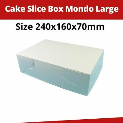 Cake Boxes Mondo Large 240 x 160 x 70 MM - 100/Pk Cupcake Boxes Cake Boards