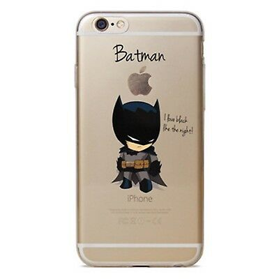 Kritzel iPhone 6 6s Plus Schutz Hülle Handy Cover Case Tasche Slim Bumper Batman