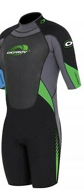 "Osprey Mens Shorty Shortie Wetsuit Small Long Chest 36.5"" Height 174-180 GREEN"
