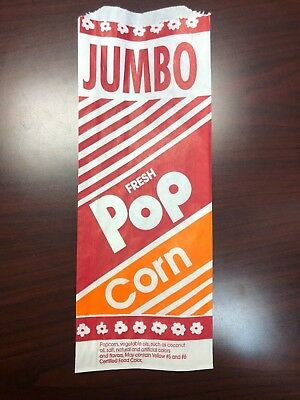 """Popcorn Bags  (500)  12"""" 2oz Large Bag Great Size (NEW)"""