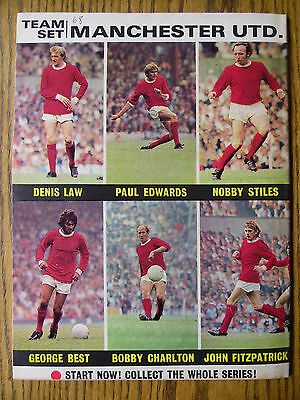 FOOTBALL PICTORIAL Dec 1970 - Manchester United Team Set + Coventry City Chelsea