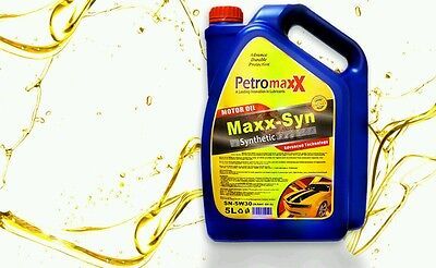 5 Liters Engine Oil PetroMaxx 5W-30. Fully Synthetic High Performance Motor Oil