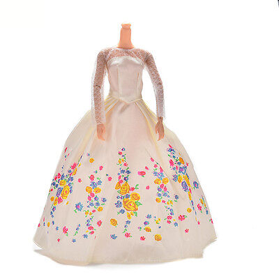1 X Lace Dresses For Cinderella Barbies Dolls Gown Wedding Party Doll  Beauty MD